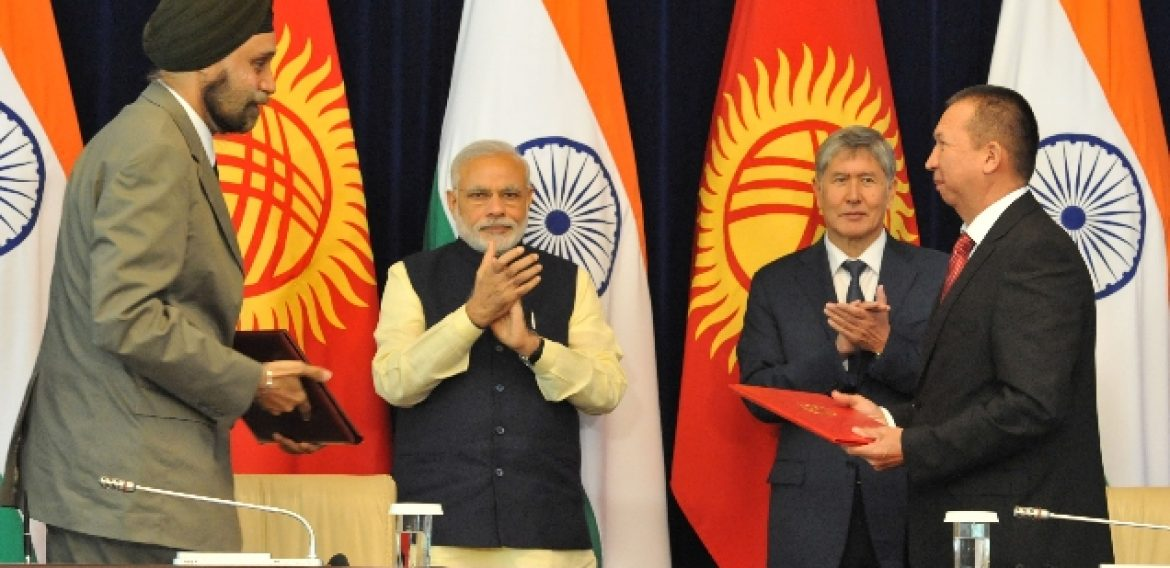Honorable prime minister of India Mr. Narendra modi visited Kyrgyz Republic and inaugurated tele-medicine centers in Osh and Bishkek