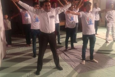 Jalalabad state university students celebrated international yoga day