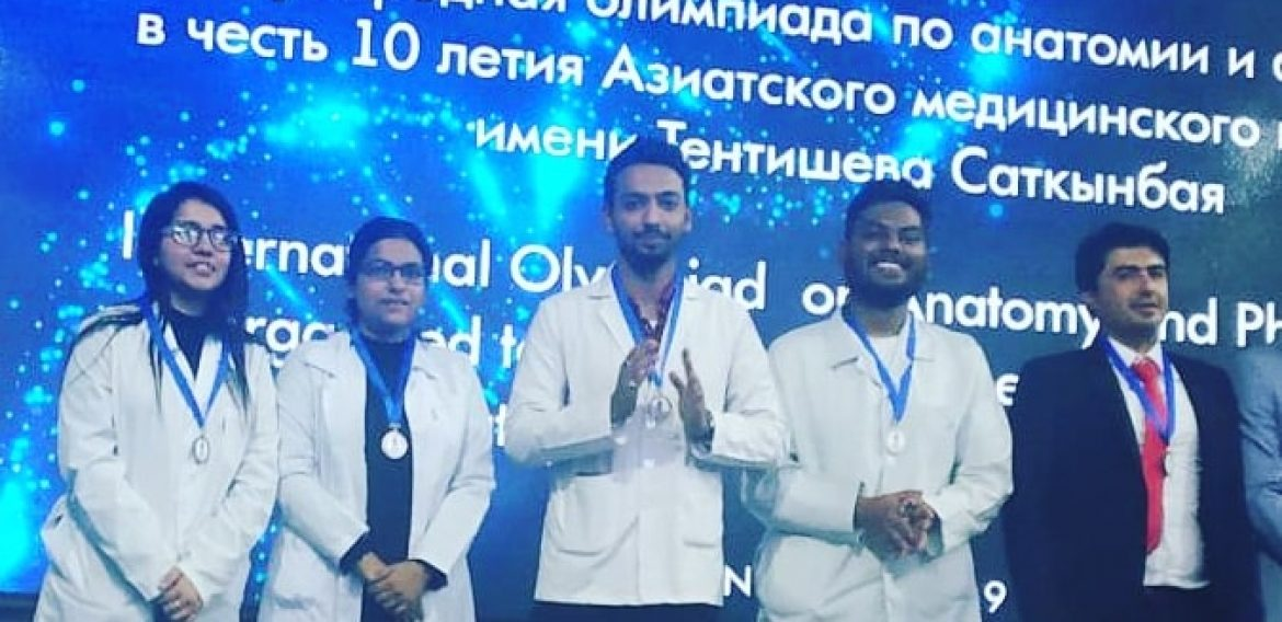 Warm congratulations to our students who participated In Anatomy-Physiology Olympiad in bishkek and got 3rd position.