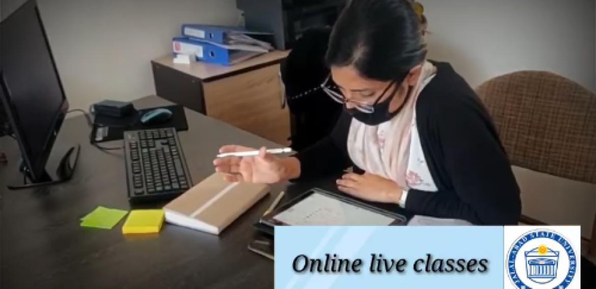 University has implemented the sessions of online live classes and online exams.