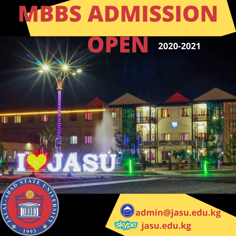 Admission open 2020-2021 for the students who wanted to apply  at JASU